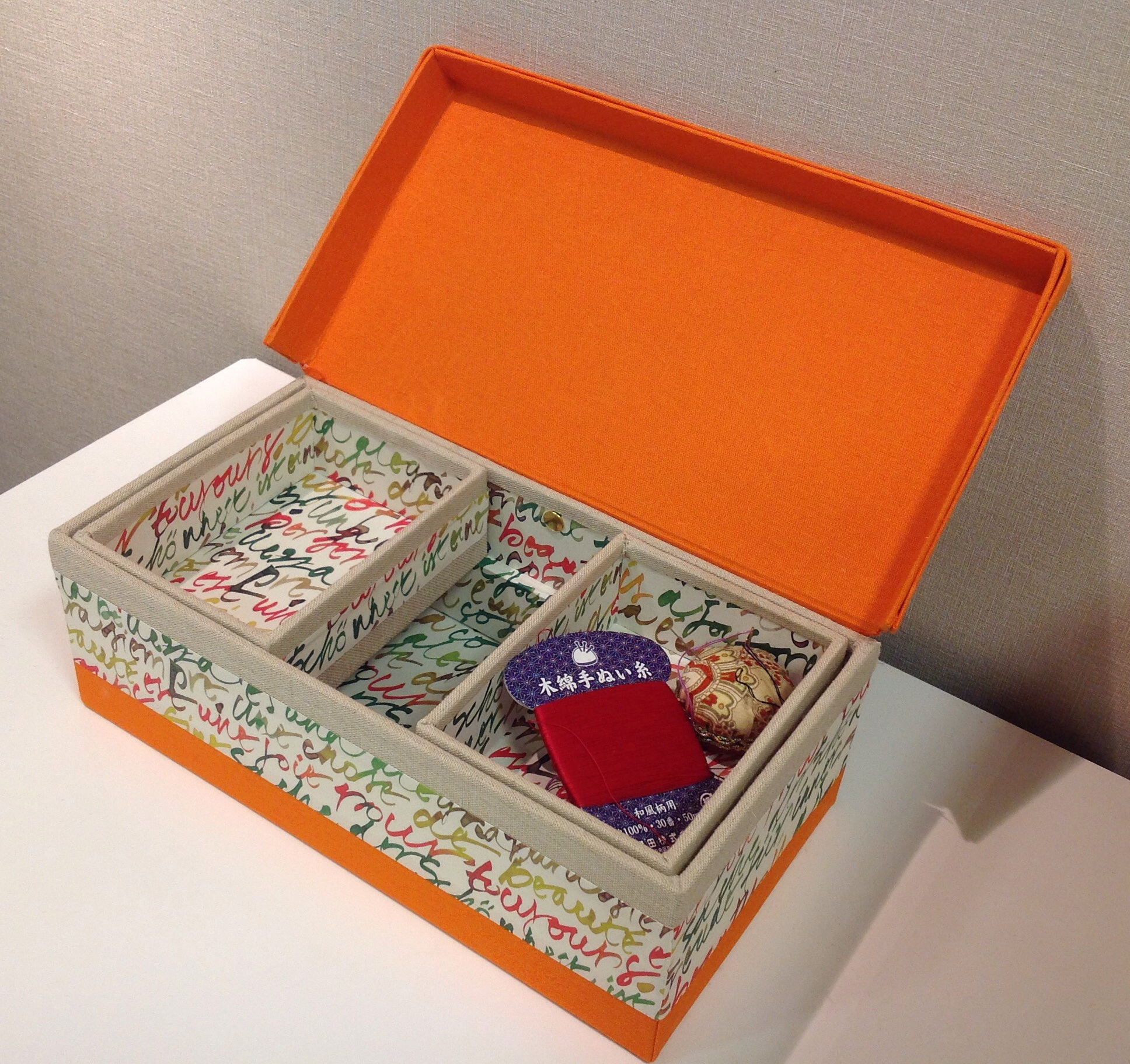 sewing box inside