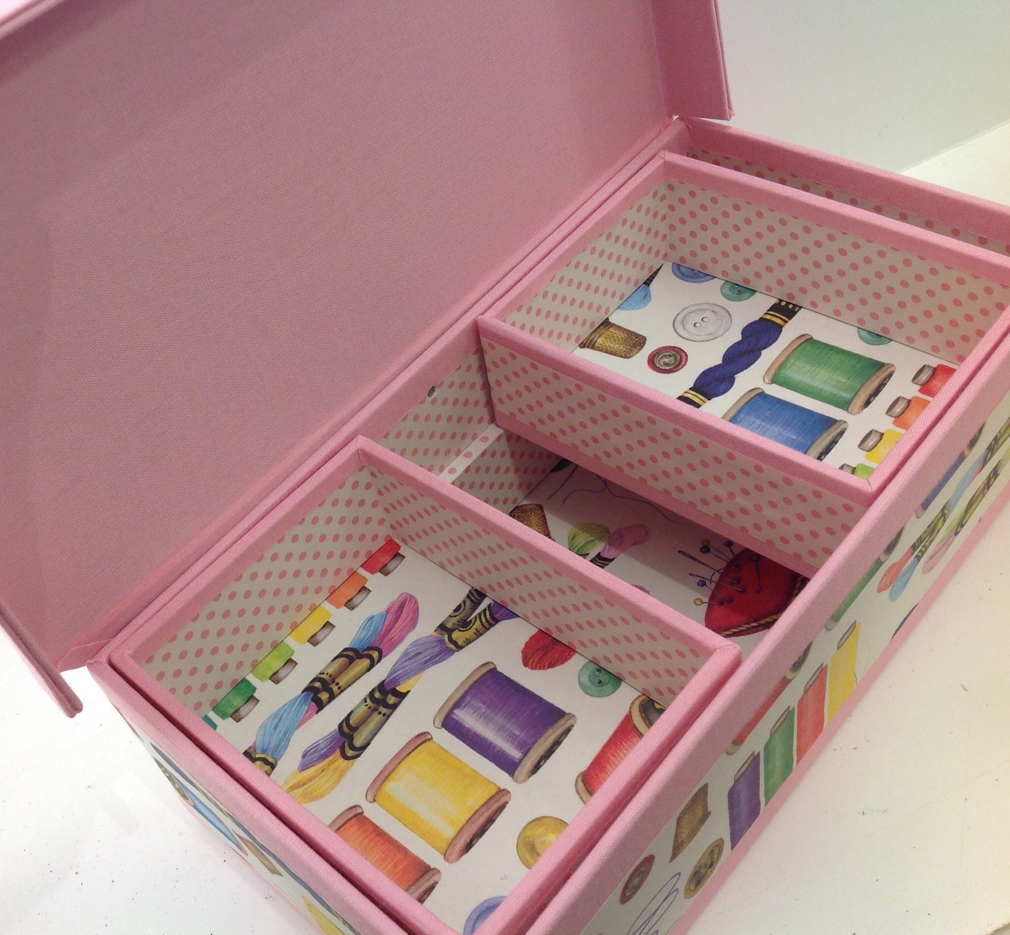 Sewing box open